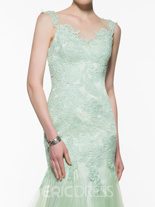 Ericdress Scoop Lace Appliques Mermaid Mother Of The Bride Dress