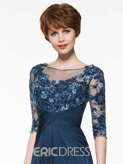 Ericdress Bateau Neck Sequins Half Sleeve Mother Of The Bride Dress