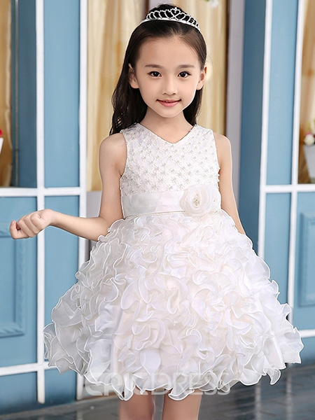 Ericdress Solid Color Princess Dress