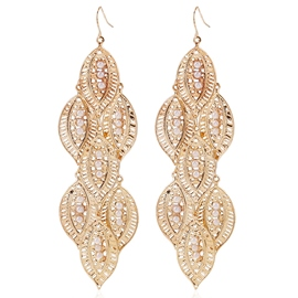 Ericdress Graceful Golden Leaves Earrings