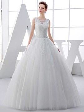 Ericdress Charming Appliques Ball Gown Wedding Dress