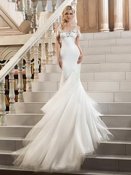 Ericdress Beautiful Spaghetti Straps Beaded Mermaid Wedding Dress