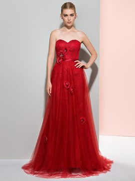 Ericdress A-Line Sweetheart Beading Crystal Court Train Prom Dress
