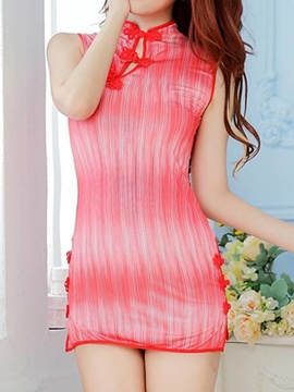 Ericdress Nightwear Unique Button Sexy Slit Chemise