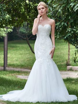 Ericdress Beautiful Appliques Beaded Sweetheart Mermaid Wedding Dress