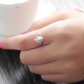 Ericdress Lovely Silver Diamond Women Ring