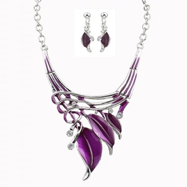 Ericdress Leaf Hollow Out Ultra Violet Jewelry for Women