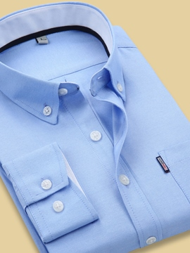 Ericdress Plain Button Down Men's Dress Shirt