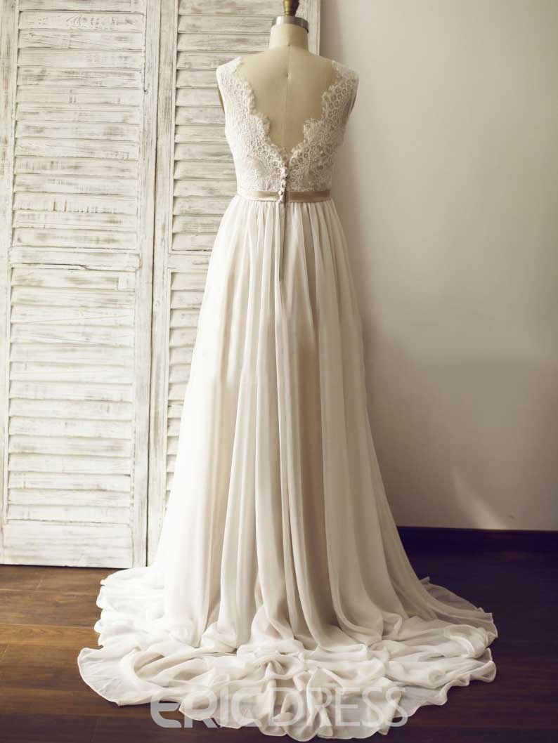 Ericdress Simple Lace A Line Wedding Dress