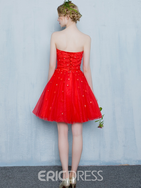 Ericdress A-Line Short Homecoming Dress With Beadings