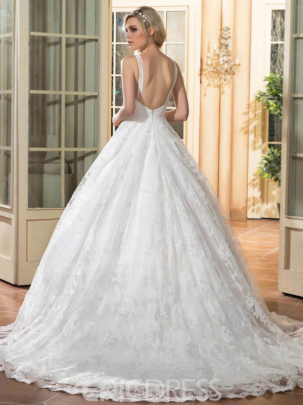 Ericdress Charming Backless Ball Gown Wedding Dress