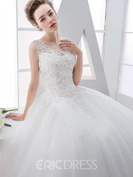 Ericdress Beautiful Appliques Scoop Ball Gown Wedding Dress 12207701 ...