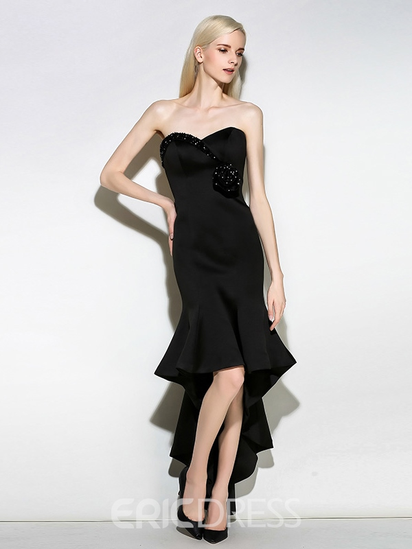 Ericdress Trumpet Sweetheart Beading Asymmetry Cocktail Dress