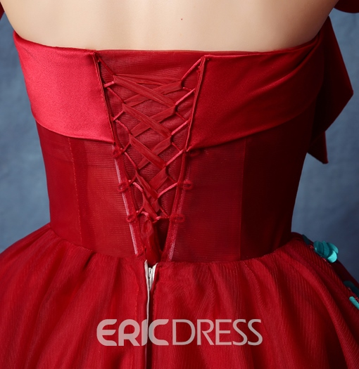 Ericdress Strapless Ball Gown Appliques Bowknot Sequins Homecoming Dress