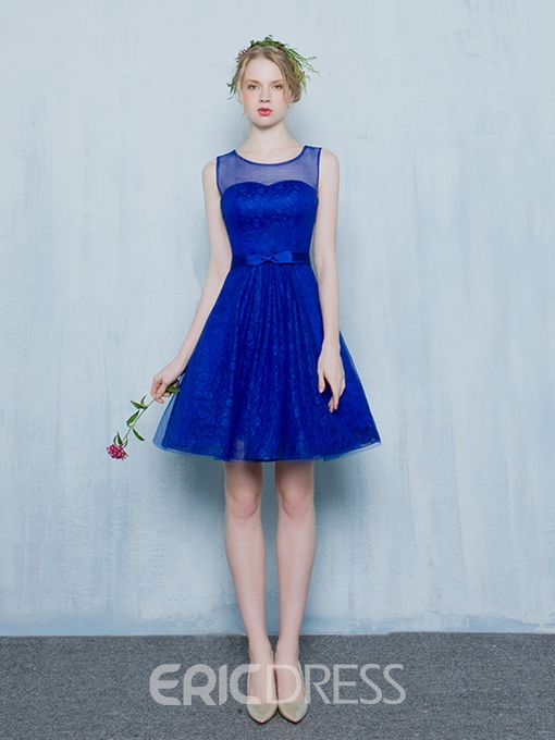 Ericdress A-Line Scoop Lace Short Homecoming Dress
