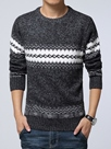Ericdress Round Neck Plus Size Pullover Men's Sweater