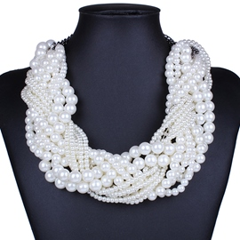 Ericdress Multilayer Winding Pearl Necklace