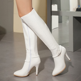 Ericdress Rhinestone Point Toe Knight Knee High Boots