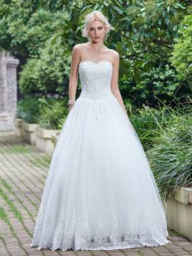 Ericdress Beaded Appliques Sweetheart A Line Wedding Dress