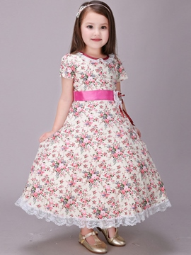 Ericdress Pastoral Falbala Pleated Girls Dress
