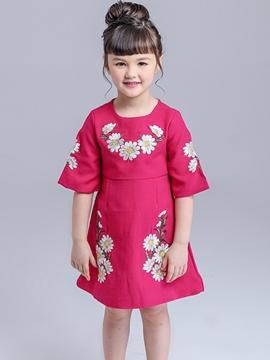 Ericdress demi manchon filles Dress
