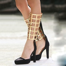 Ericdress Special Patchwork Stiletto Sandals