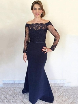a87249bae66 Ericdress Elegant Off The Shoulder Mermaid Lace Mother Of The Bride Dress  2019