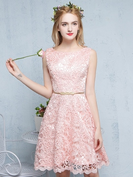 Ericdress A-Line Scoop Lace Mini Homecoming Dress