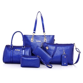 Ericdress Hexagon Embossed Handbags(6 Bags)