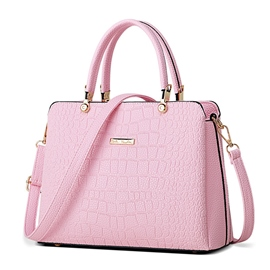 Ericdress Simple Croco-Embossed Boston Handbag
