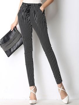 Ericdress Stripe Pencile Pants