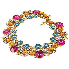 Ericdress Sparkling Crystal Necklace