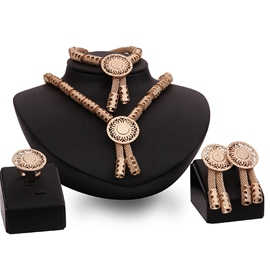 Ericdress Fashion Exaggerated Gold Jewelry Set