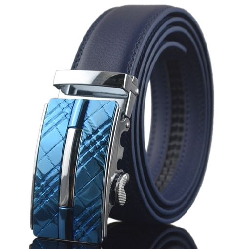 Ericdress Blue Plaid Men's Belt