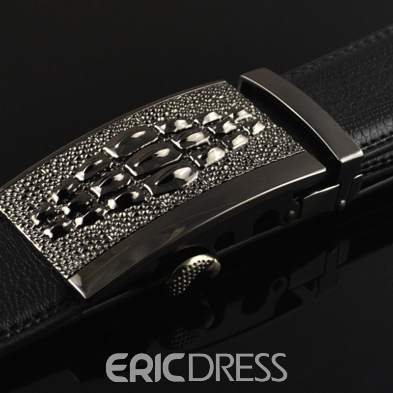 Ericdress Men's Alligator Cowhide Belt