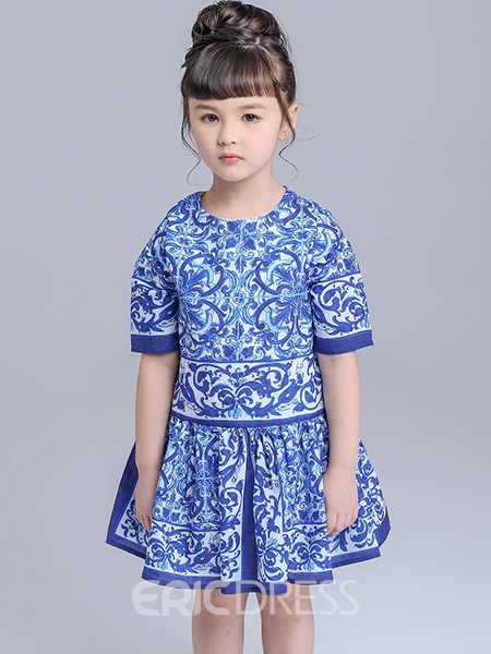 Ericdress Half Sleeve Ethnic Girls Dress