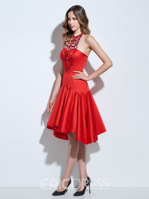 Ericdress Jewel A-Line Beaded Knee-Length Cocktail Dress