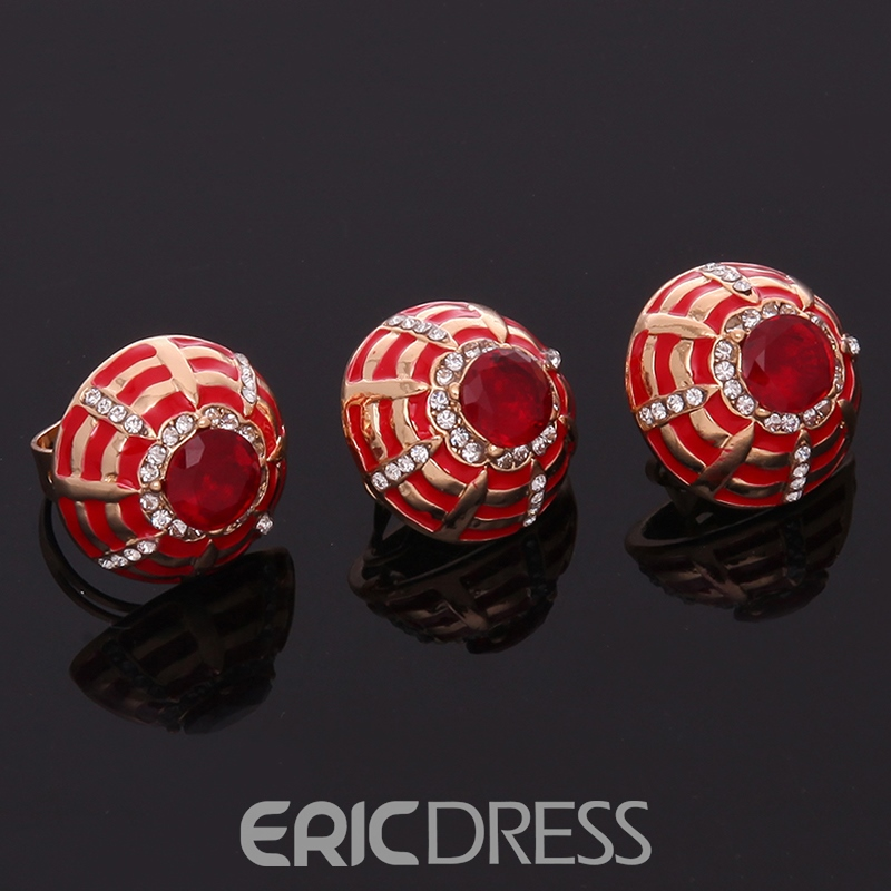 Ericdress Party Red Four Pieces Jewelry Set