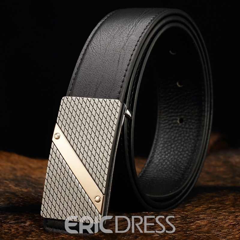 Ericdress Men's Grained Smooth Belt