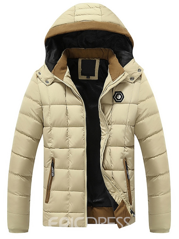 Ericdress Hooded Thicken Warm Men's Winter Coat