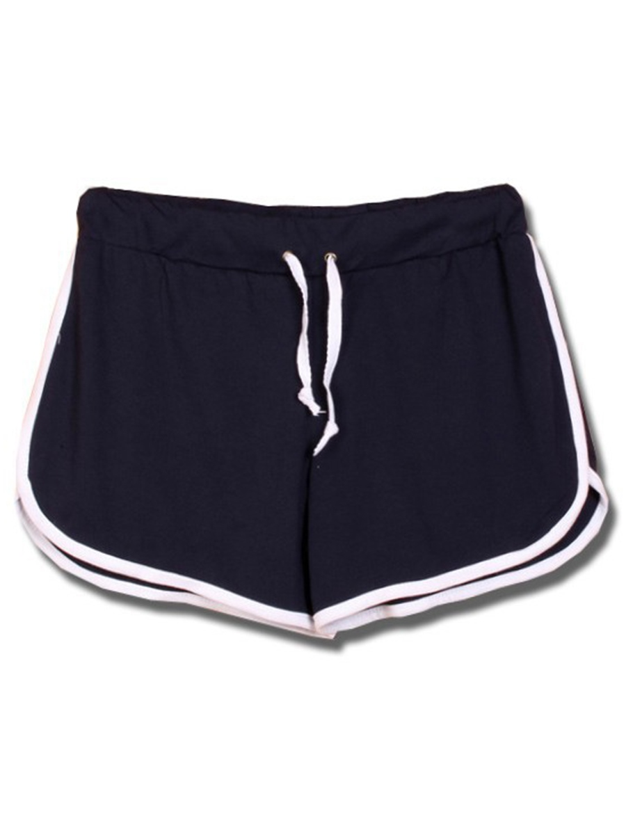 Ericdress Stripe Patchwork Sports Shorts