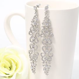 Ericdress Charming Silver Diamante Earrings