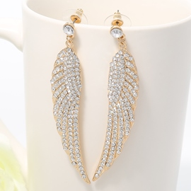 Ericdress Golden Wing Design Earrings