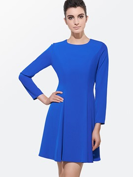 Ericdress Simple Solid Color Casual Dress