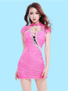 Ericdress Lace Hollow Sexy Clubwear