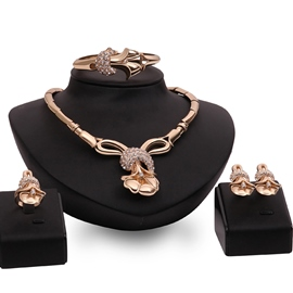 Ericdress European Gold Plated Jewelry Set