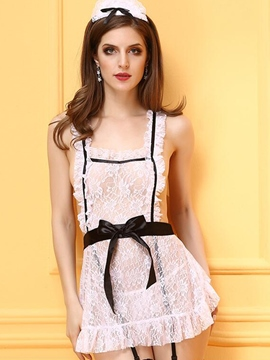 Ericdress Lace Bowknot Belt Sexy Maid Cosplay