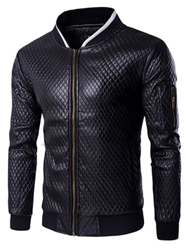 Ericdress Zip PU Vogue Slim Men's Jacket