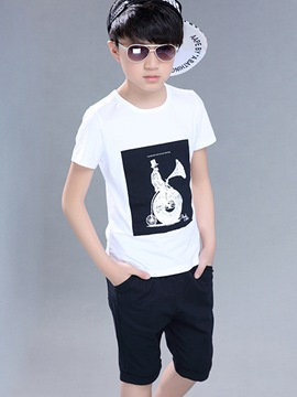 Ericdress Cartoon Letter Print Boy's Summer Outfits