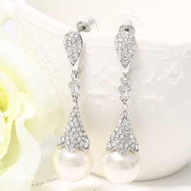 Ericdress White Pearl Design Earrings